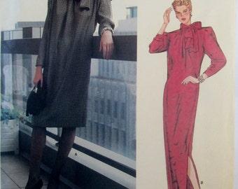 Vogue Paris Original 1309 Givenchy 70s Dress Sewing Pattern Bust 36