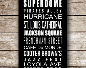 New Orleans Destination Poster in Printable File - Completely customizable