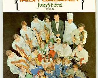 Irish Cabaret, memories of Jury's hotel, dubland, Ireland Vintage Vinyl Record Album Souvenir LP with Irish Songs and Music