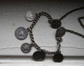Pirate Coin Necklace Made with Vintage Coin Ornaments from a vintage Bavarian Dirndl skirt
