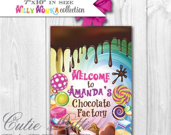 Willy Wonka - PRINTABLE WELCOME SIGN - Cutie Putti Paperie