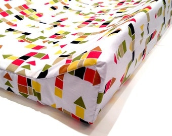 BLOCKS - changing pad cover - gender neutral nursery - baby changing station