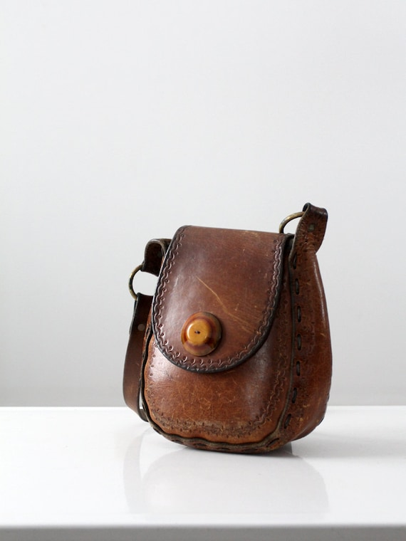 1960s boho leather bag
