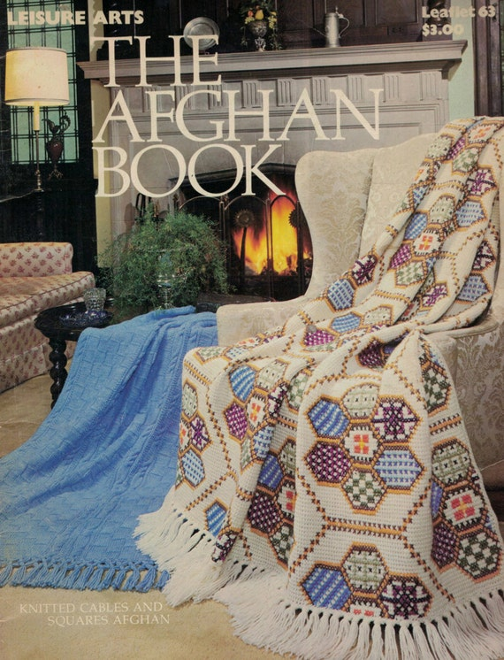 Leisure Arts Knitting Pattern Books : Vintage Knitting Pattern Leisure Arts The Afghan by AtomicHoliday