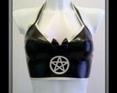 Latex Pentagram & Bow Top