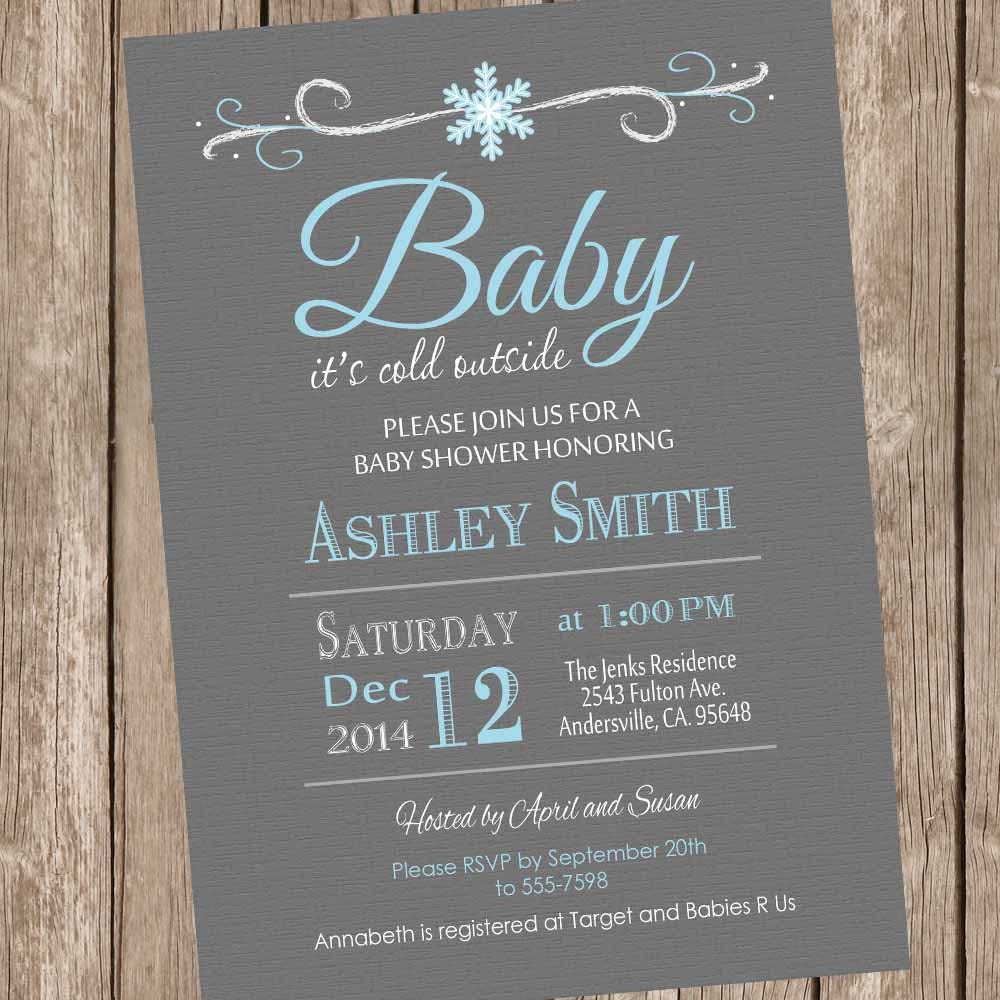 baby it 39 s cold outside baby shower invitation by modernbeautiful