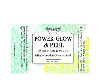 Glycolic Acid Power Peel For Acne and Rosacea Skin Types - Glowing Skin