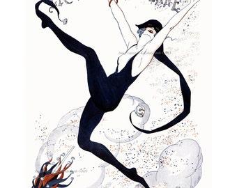 Woman in Jester Suit - La Vie Parisienne - New Years Mardi Gras