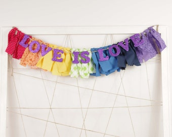 Love Is Love Banner - More Love - Marriage Equality - Gay Pride Banner - Rainbow Banner - LGBT
