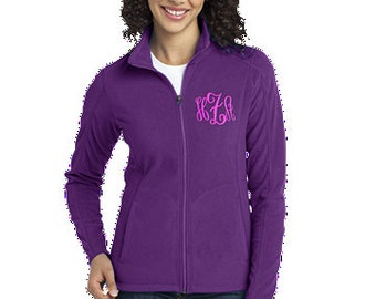 Personalized Ladies Embroidered Monogramed Microfleece Jacket