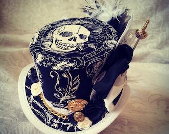 Pirate hat, Steampunk hat, Top hat, Mini Top hat, Mad Hatter hat, Kraken hat, Steampunk Costume, Cosplay costume, Jack Sparrow, Seven seas