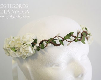 Floral crown - wedding crown - floral headpiece