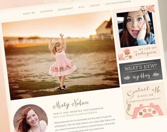 Wordpress Website Design - Custom WordPress Web Design. Photographer Website - Online Portfolio. Custom Wordpress Web and Custom Blog Design