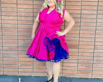 1950s Vintage Inspired Petticoats - White, Red, Orange, Pink, Blue, Purple, Yellow, Green, Black  ...  VLV, Bridesmaids, Wedding Dress, Prom