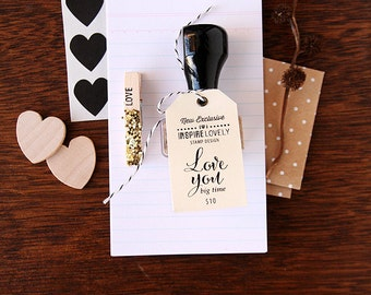 Discontinued SALE - Exclusive Stamp - Love You big time
