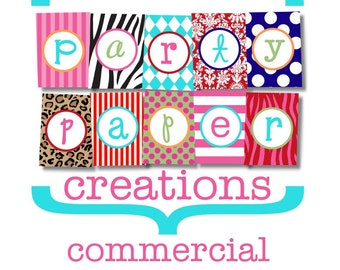 Commercial License for Party Paper Creations