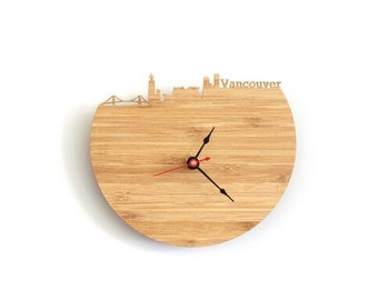 Wall Clock - Vancouver Skyline