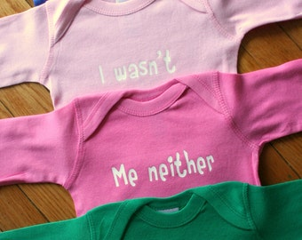 OMG It's QUADS Pick Your Colors Long Sleeve Baby Bodysuits
