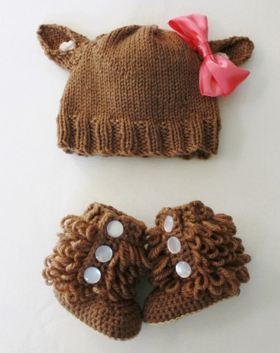 Doe hat/Booties - You Choose - by Knittin' Around