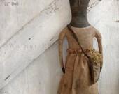 E-pattern Mrs. Blanchard Doll by Walnut Ridge Primitives #123 PDF Instant Download
