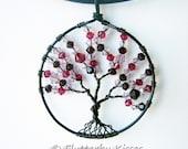 Swarovski Crystal Tree of Life Pendant / Necklace
