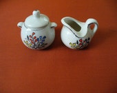 Vintage Miniature Sugar and Creamer PorcelainTea Set Doll Accessories Made in Japan YourFineHouse ShipsInternationally