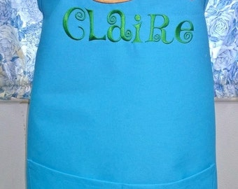 Personalized Apron Art Paint Palette Applique