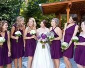 Plum Purple Infinity Wrap Bridesmaid Dress