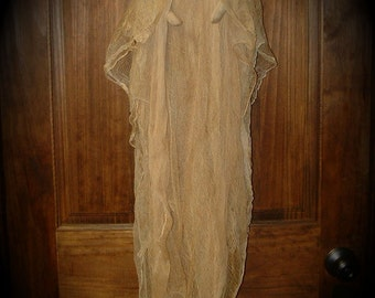 Primitive Halloween Ghost Doll Door Wreath or Wall Decoration