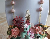 vintage My Little Pony bib necklace