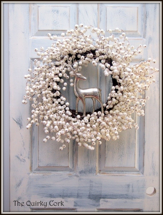 Elegant White Berry Holiday Wreath