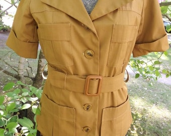 Vintage Gold Lined Jacket Medium