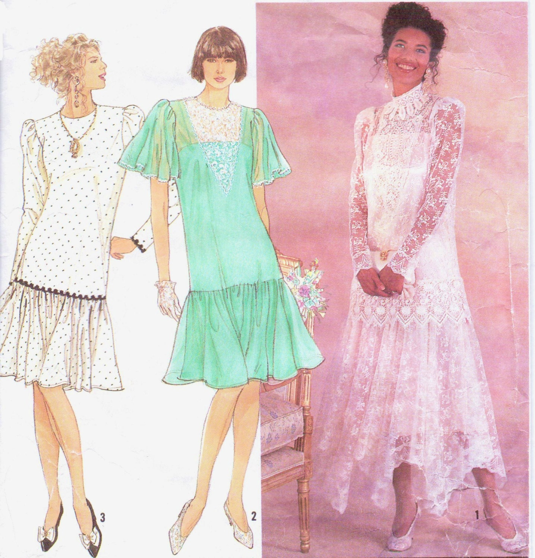 90s Jessica McClintock Simplicity Pattern 7056 Womens Bridal