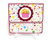 Gift Card Holder, Gift Card Envelope, Gift Card Box, Money Holder- Birthday Cupcake