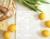 Meal Planning and Grocery List Magnetic Notepad
