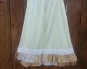 Ready to Ship -- Ruffle Extender Slip - Skirt Extender - Dress Extender - Petticoat - Ruffled Half Slip - Prairie - Rustic