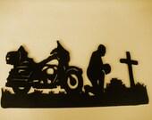 MotorCycle,Biker,Metal Art,Praying,Harley,Biker's Prayer