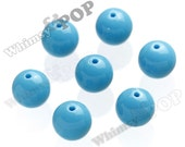 20mm - 100 PACK Aqua Blue Gumball Beads, Bulk Gumball Beads, Wholesale Gumball Beads, Wholesale Chunky Beads, 20mm Beads, 2mm Hole