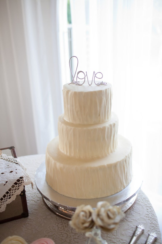Simple Classy Love Wedding Cake Topper