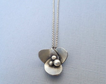 Wildflower Necklace - Silver