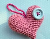 Crochet heart - crochet pattern, DIY