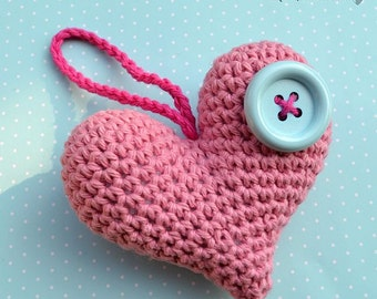Crochet heart - crochet pattern, DIY