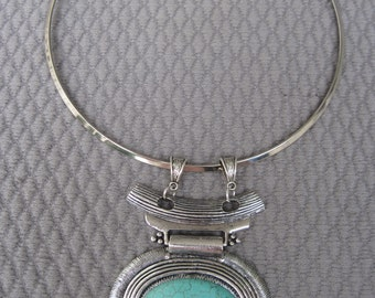 Southwestern Flair Pendant on Silver Neck Wire