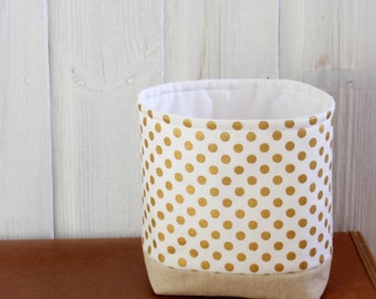 Polka Dot Fabric Bins Etsy