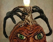 Folk Art Pumpkin Sculpture Light OOAK