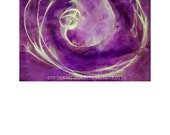 Voyage into the Violet Flame Painting 22 x 30 Abstract Art Purple Gold Sacred Cosmology Spirituality Mysticism Space