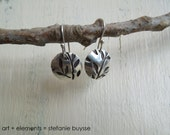 "ARTisan Made ""Nature Inspires Me"" Earrings - PMC - Sterling Silver - OOAK"