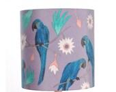 Macaws Lampshade - handmade silk shade