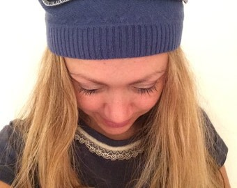 Small Seahawks cap hat upcycled 12th man by HopeFloats