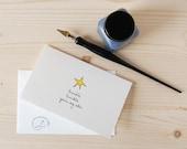 Cute Childrens Card - Sweet Star Love You Card - Twinkle Twinkle
